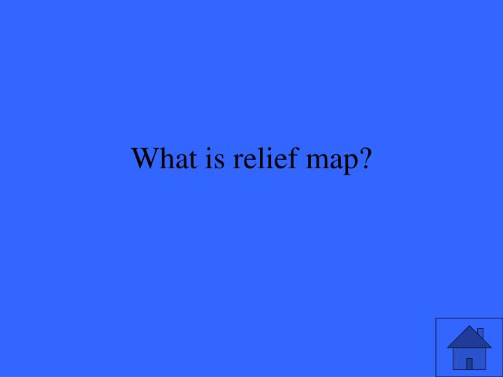 What is relief map?