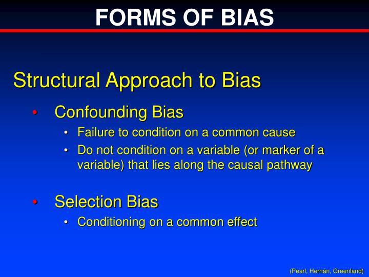 FORMS OF BIAS