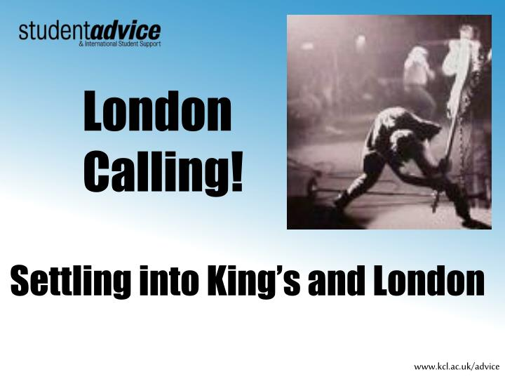 settling into king s and london n.