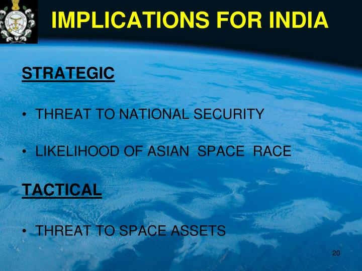IMPLICATIONS FOR INDIA