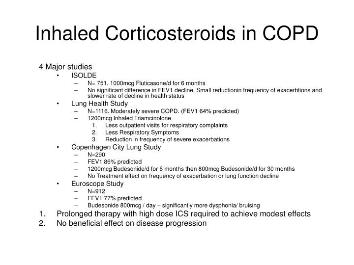 Inhaled Corticosteroids in COPD