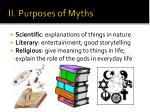 ii purposes of myths