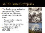 vi the twelve olympians