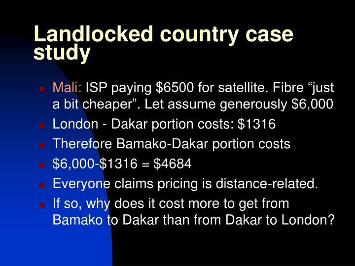 Landlocked country case study