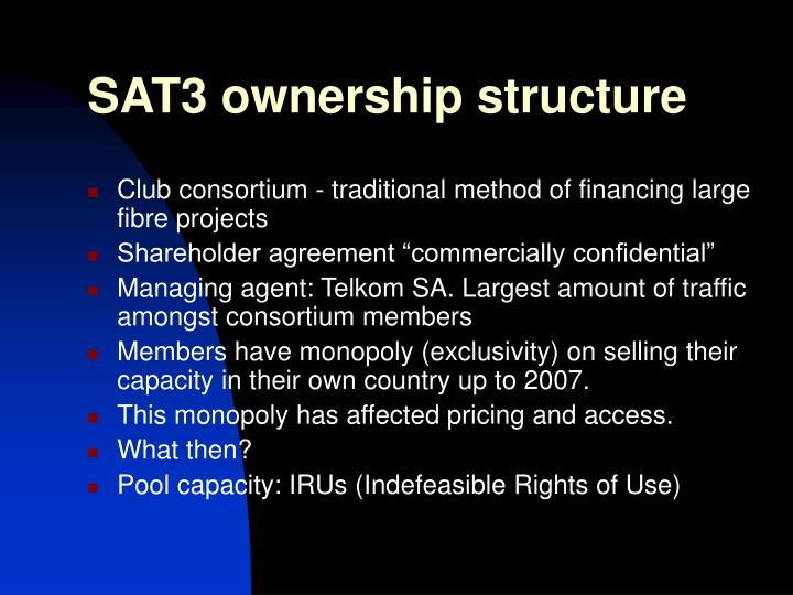SAT3 ownership structure