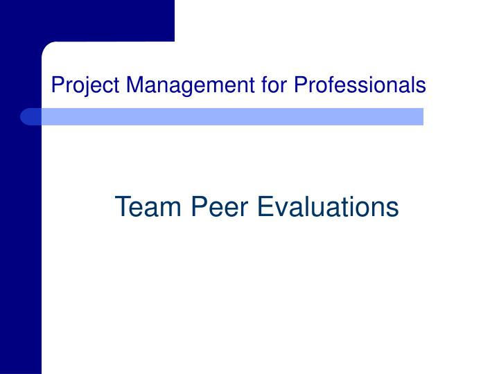 Project Management for Professionals
