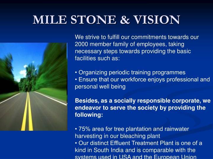 MILE STONE & VISION