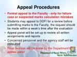 appeal procedures