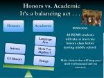 honors vs academic it s a balancing act
