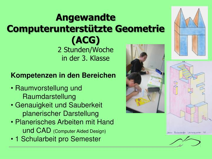 Angewandte Computerunterstützte Geometrie (ACG)