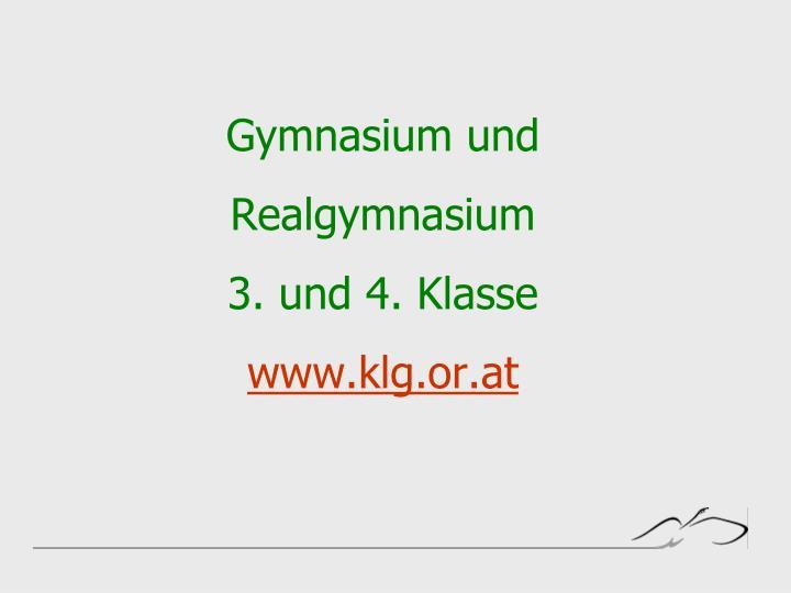 Gymnasium und realgymnasium 3 und 4 klasse www klg or at