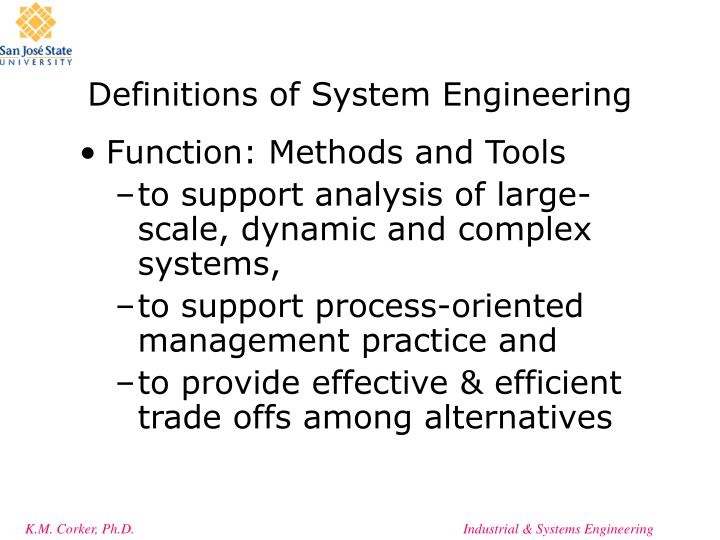 Definitions of system engineering1