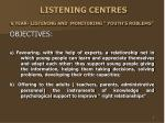 listening centres 6 year listening and monitoring youth s roblems