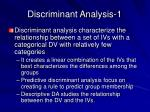 discriminant analysis 1