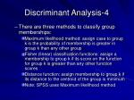 discriminant analysis 4