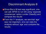 discriminant analysis 9