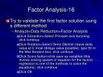 factor analysis 16