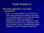 factor analysis 6