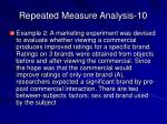 repeated measure analysis 10