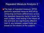 repeated measure analysis 2