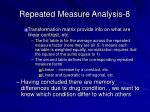 repeated measure analysis 8
