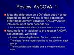 review ancova 1