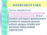 instrument used
