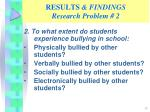 results findings research problem 2