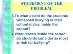statement of the problem2
