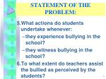 statement of the problem3