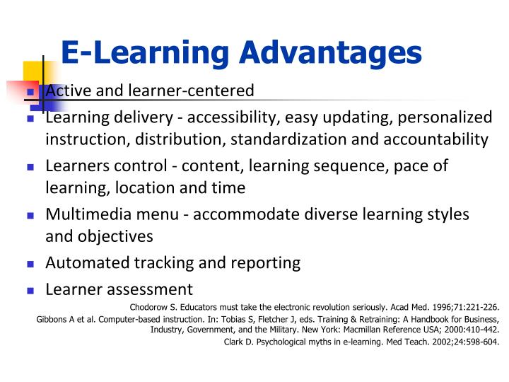 E-Learning Advantages
