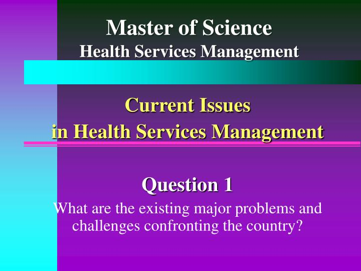 master of science health services management n.