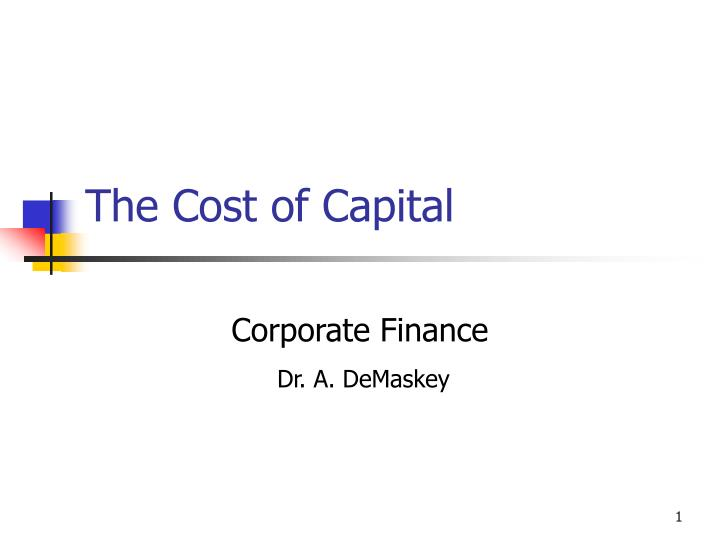 the cost of capital n.