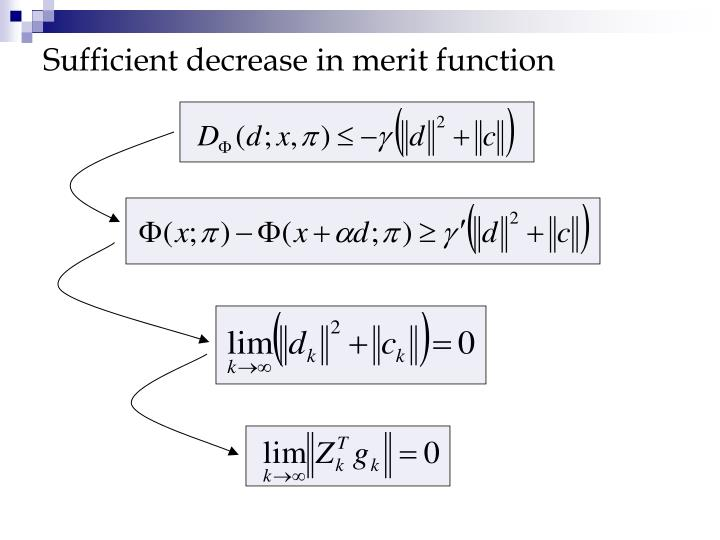 Sufficient decrease in merit function