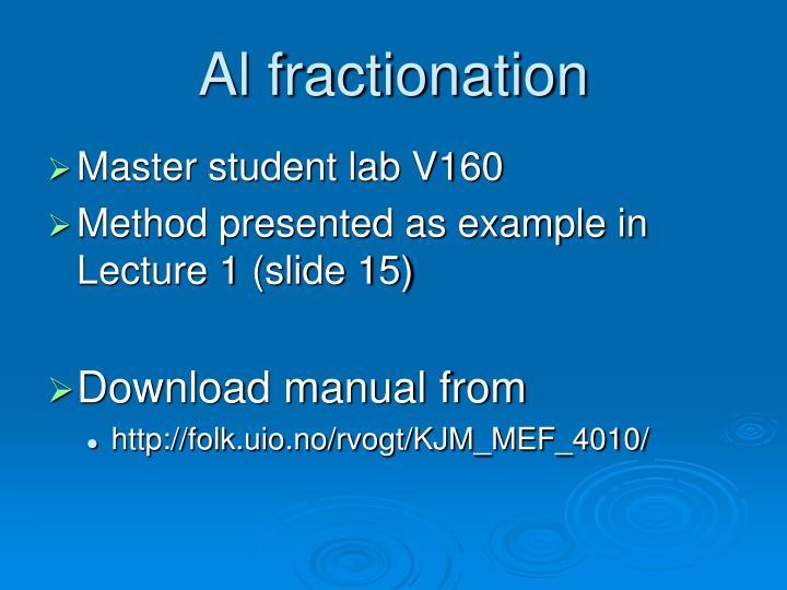 Al fractionation