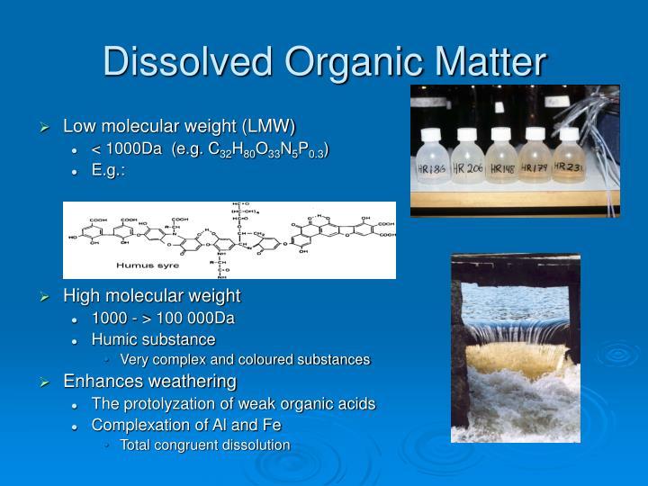 Dissolved Organic Matter
