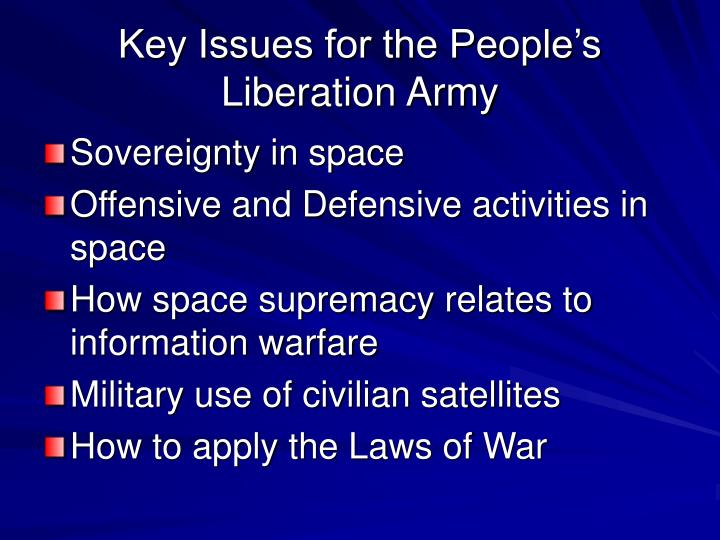 Key Issues for the People's Liberation Army