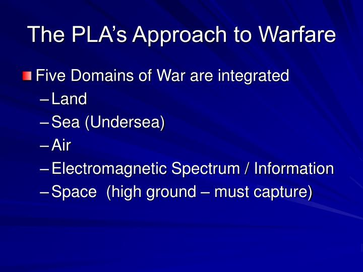 The pla s approach to warfare
