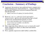conclusion summary of findings