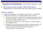 empirical methodology franchised dummy endo1