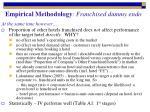 empirical methodology franchised dummy endo2