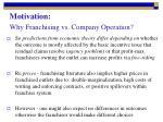 motivation why franchising vs company operation1