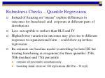 robustness checks quantile regressions