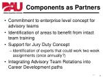 components as partners