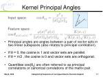 kernel principal angles