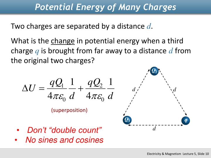 Potential Energy of Many Charges
