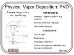 physical vapor deposition pvd