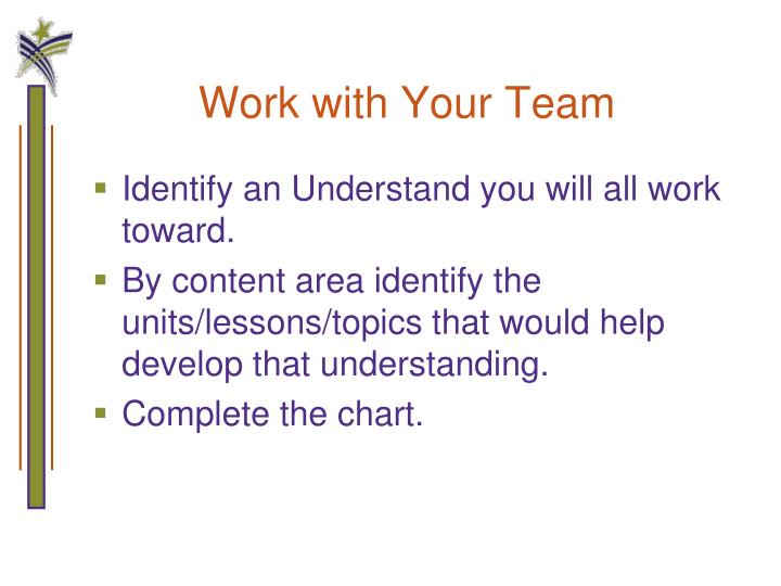 Work with Your Team