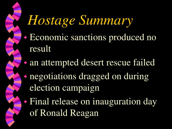 Hostage Summary