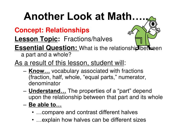 Another Look at Math…..